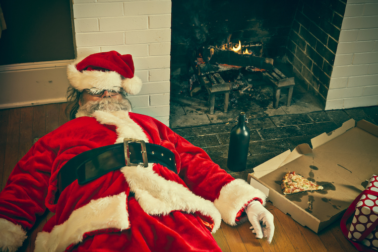 Bad Santa Drunk And Passed Out